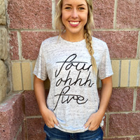 Four Ohhh Five marble crew neck t-shirt - more colors