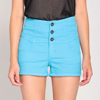 High Waisted Three Button Shorts
