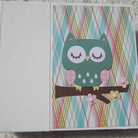6x6 Owl Scrapbook Photo Album