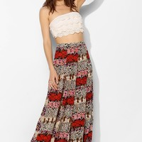 Staring At Stars Gauzy Print-Mix Maxi Skirt - Urban Outfitters