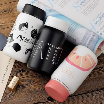 TECHOME Cartoon Vacuum Cup Stainless Steel Thermos Cup Bottle Thermos Thermal Mug Insulated Tumbler Water Thermos Cup Bottle