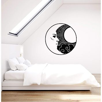 Vinyl Wall Decal Sun Moon Crescent Home Bedroom Interior Decor Stickers Mural (ig5713)