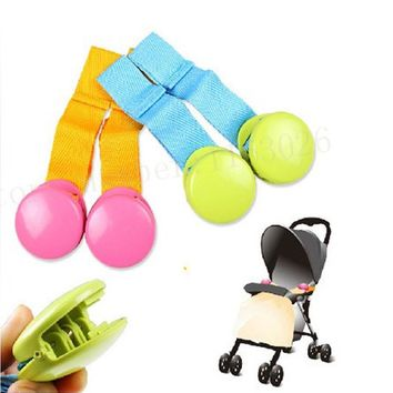 Baby Stroller Clip Bed Anti kick Quilt Clip Blanket Multipurpose Baby Safe Care Glossy Multicolour Blanket Clip Anti Tipi