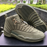 "AJ 12 PSNY x Air Jordan 12 ""Green"" Men Basketball Shoes"
