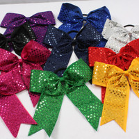 Sequin Cheerleading Hair Bows - Great for Cheer!