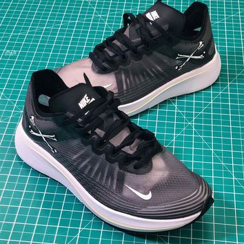 Nike Lab Zoom Fly SP Black Sport Running Shoes - Best Online Sale