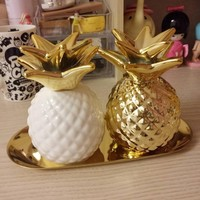 Europe Gold Pineapple Ceramic Piggybank