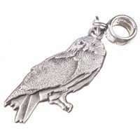 Silver Plated Harry Potter Hedwig Owl Slider Charm