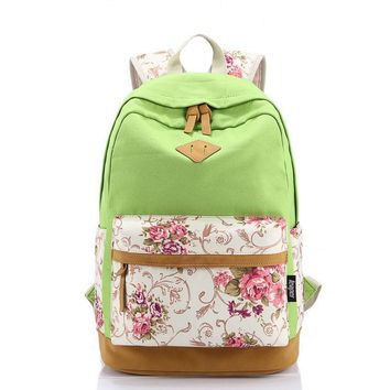 Day-First™ Casual Style Lightweight Canvas Laptop College Backpack Cute Travel School College Shoulder Bag/Bookbags/Daypack