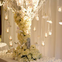 Hanging Candle Wedding Tree
