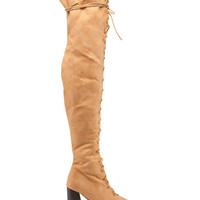 Over The Knee Lace Up Front Boots - Boots - T.J.Maxx