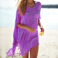Seafolly Amnesia Kaftan in African Violet at Coco Bay