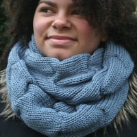 Womens Knitted Infinity Scarf, Long Circular Scarf, Gift for Her, READY TO SHIP! Womens accessories