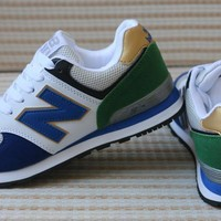 New Balance Sport Casual Multicolor N Words Breathable Unisex Sneakers Couple Running Shoes-2