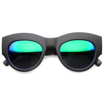 CHANNEL LIVE MATTE REVO MIRROR SUNGLASSES