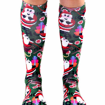 Saint Nick Knee High Socks