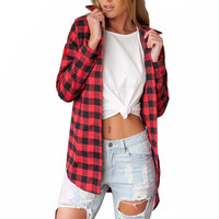 Black And Red Flannel Plaid Shirt