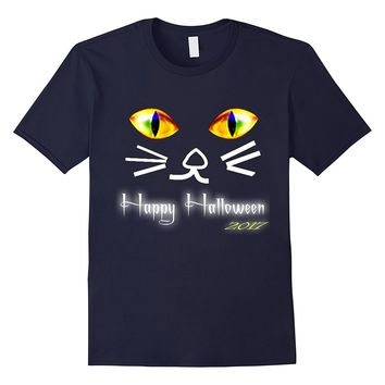 Cat Face Shirt- Funny Cute Animal Halloween tshirt