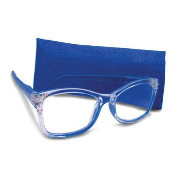 Blue 2.75 Magnification Rhinestone Reading Glasses