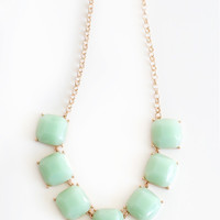 Evelyn Mint Statement Necklace