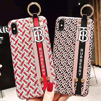 Burberry Fashion New More Letter Print Women Men Protective Cover IPhone Phone Case