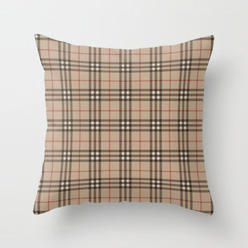 Burberry plaid like pattern! Throw Pillow by All Is One