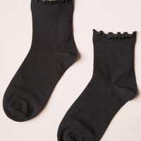BLACK RUFFLED SOCKS