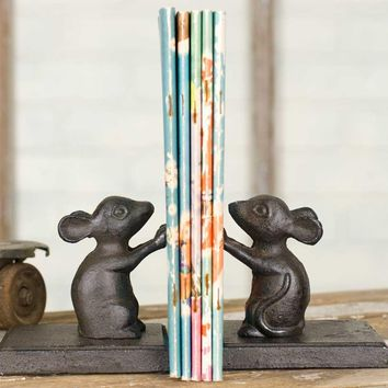 Cute Mice Bookends