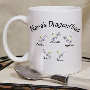 Personalized Dragonflies Coffee Mug