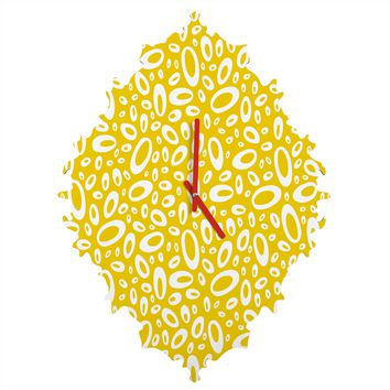 Heather Dutton Molecular Yellow Baroque Clock