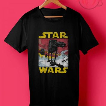 Trend Fashion Vintage AT AT Star Wars T Shirts- Agilenthawking.com