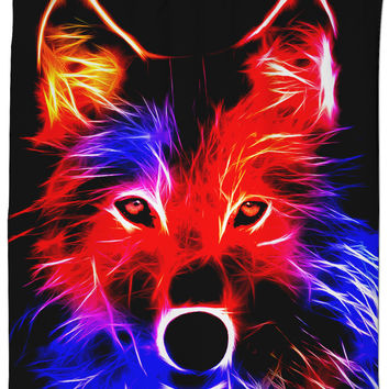 Radiant Wolf Shower Curtain