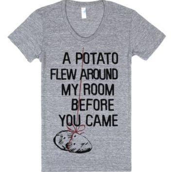 A Potato Flew Around My Room-Female Athletic Grey T-Shirt