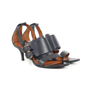 Givenchy Navy Leather Sandals