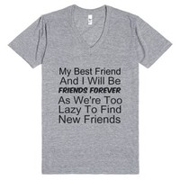 My Best Friend And I Will Be Friends Forever-Athletic Grey T-Shirt