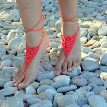 Victorian Lace Inspired Barefoot Sandals  HOT by ThalassaCrete
