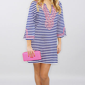 brooklyn cover up tunic - navy