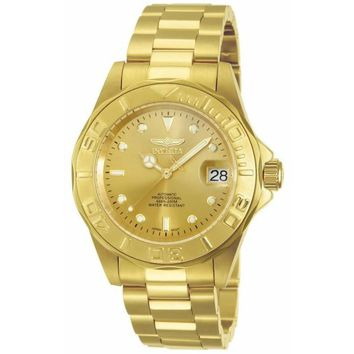 Invicta Men's 13929 Pro Diver Automatic 3 Hand Gold Dial Watch