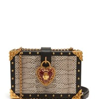 Heart padlock stud-embellished box bag | Dolce & Gabbana | MATCHESFASHION.COM UK