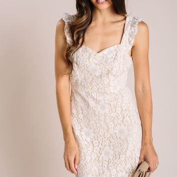 Reyna Sleeveless Lace Midi Dress