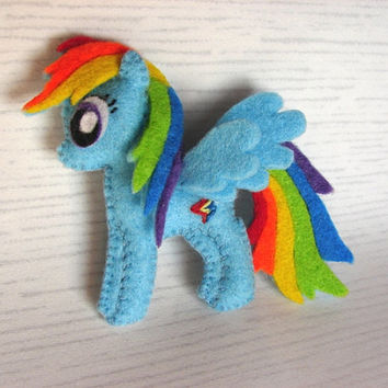 My little pony felt brooch Rainbow Dash