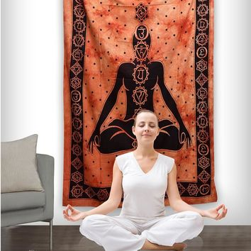 New Buddha hangping yoga background decorative tapestry Indian Mandala style Bohemian Bedspread Throw Blanket Dorm Yoga Mat