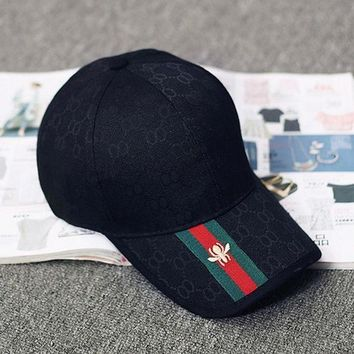 DCCKW2M GUCCI Women Men Embroidery Sports Sun Hat Baseball Cap Hat