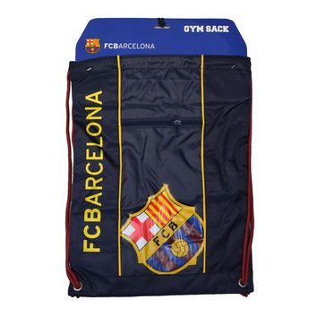 Fc Barcelona Cinch Bag Sack  Soccer Book  Backpack Authentic Official Blue