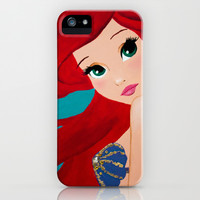 Ariel, the little mermaid iPhone & iPod Case by Karelle Renaud