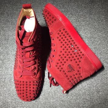 Cl Christian Louboutin Louis Spikes Style #1830 Sneakers Fashion Shoes - Best Deal Online