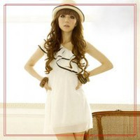 One-Shoulder Layered Lace Dress--Women's Dresses(White) China Wholesale - Sammydress.com