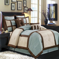 Morgan Blue Luxury 12-Piece Bedding Set