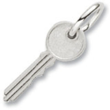 Key Charm In Sterling Silver