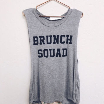 """BRUNCH SQUAD"" GRAPHIC MUSCLE TEE"